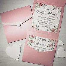 #prettypink #weddinginvitations #designsbyvictoria #designsbyvictoriawager #pocketfold #pocketfoldin
