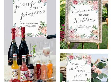 New Wedding Signs