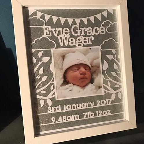 New Baby Papercut