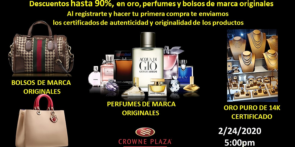 Convencion de Oro y Perfumes de Marca Originales