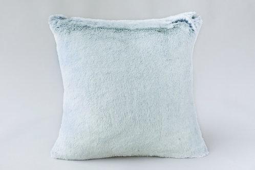 クッション Glacier 白×グレー 45×45cm