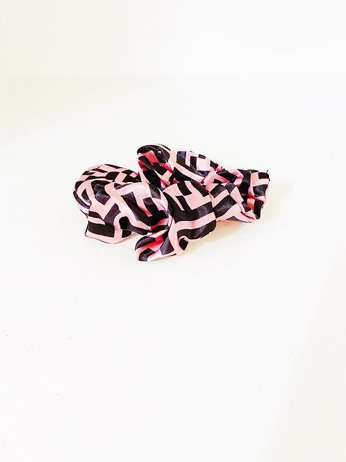 Pink Fendi Hair Scrunchie