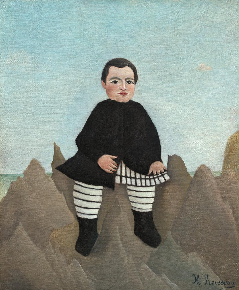 Henri Rousseau - Boy on the Rocks