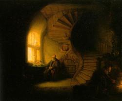 Rembrandt - Philosopher in Meditation