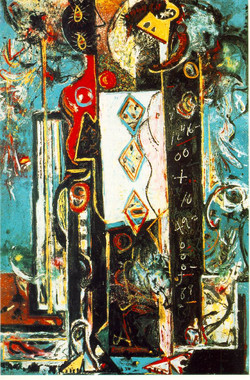 Jackson Pollock - Male and Female - Expresionismo Abstracto