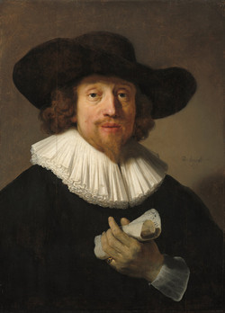 Rembrandt - Man with a Sheet of Music