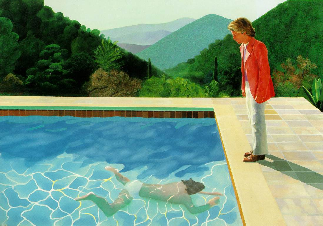 David Hockney  Pool with two figures