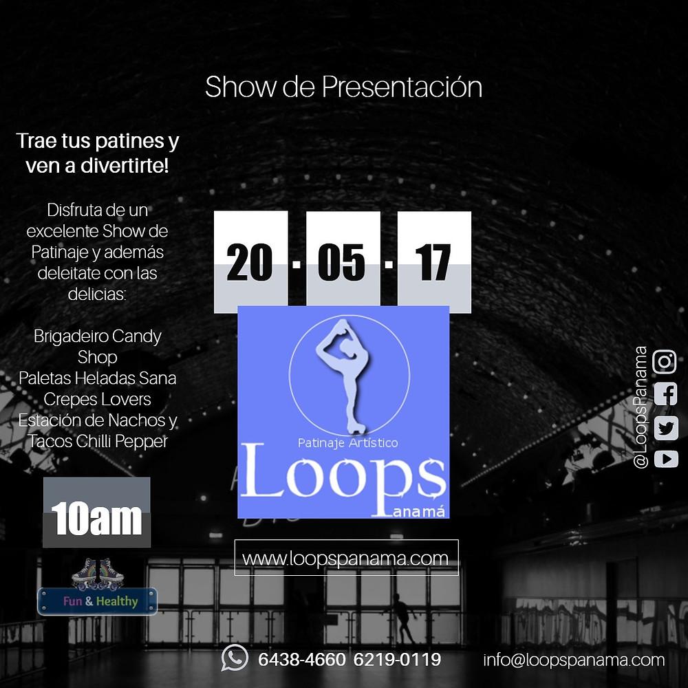 Show de Presentación de la Academia Internacional de Patinaje Artístico Loops Panamá