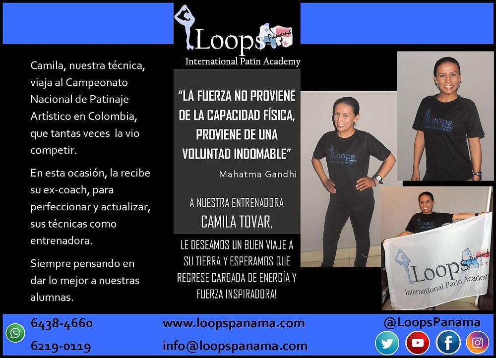 Nuestra entrenadora Camila Tovar viaja a Bogotá al Campeonato Nacional de Patinaje Artístico, donde su ex-Coach la recibe para perfeccionar y actualizar sus técnicas como entrenadora.