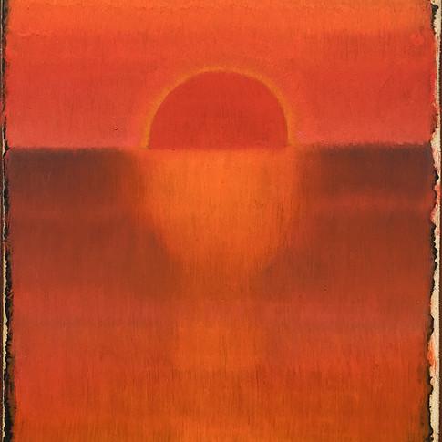 Poente- sol- vermelho 2020