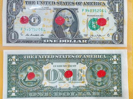 ธนบัตรขวัญทรัพย์หนึ่งดอลล่าห์ (รุ่น:#เบญจราชาปัญจคัมภีร์) Billionaire One Dollar Bill