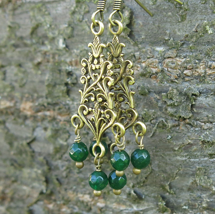 Earrings Art Nouveau 1