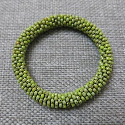Bracelet en rocailles, vert