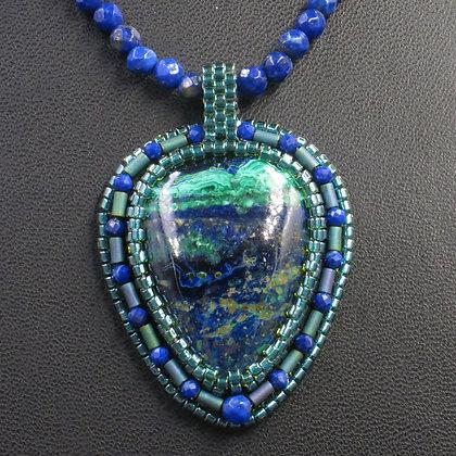 Necklace with Azurite-Malachite