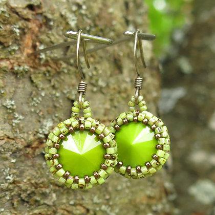"""Boucles d'oreilles """"Bonbons"""", vert"""