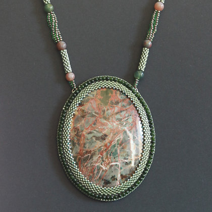 Necklace with Russian jasper