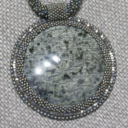 Necklace with jasper
