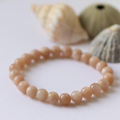 Bracelet en pierre de lune, 8 mm