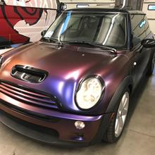 Mini Cooper color shift wrap