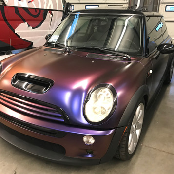 Mini Cooper color shift wrap