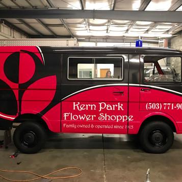 Kern Park Flowers delivery van