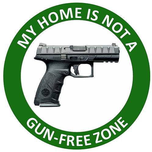 E-Z Wraps -My Home is Not A Gun-Free Zone 4 inch x 4 inch