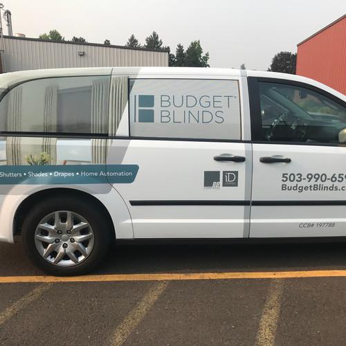 Budget Blinds 3/4 Wrap
