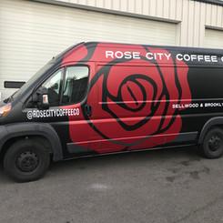 Rose City Coffee Die Cut Graphics