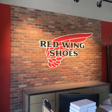 Red Wings brick wall graphic