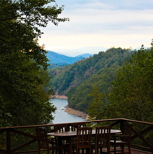 Gorgeous view of Fontana Lake