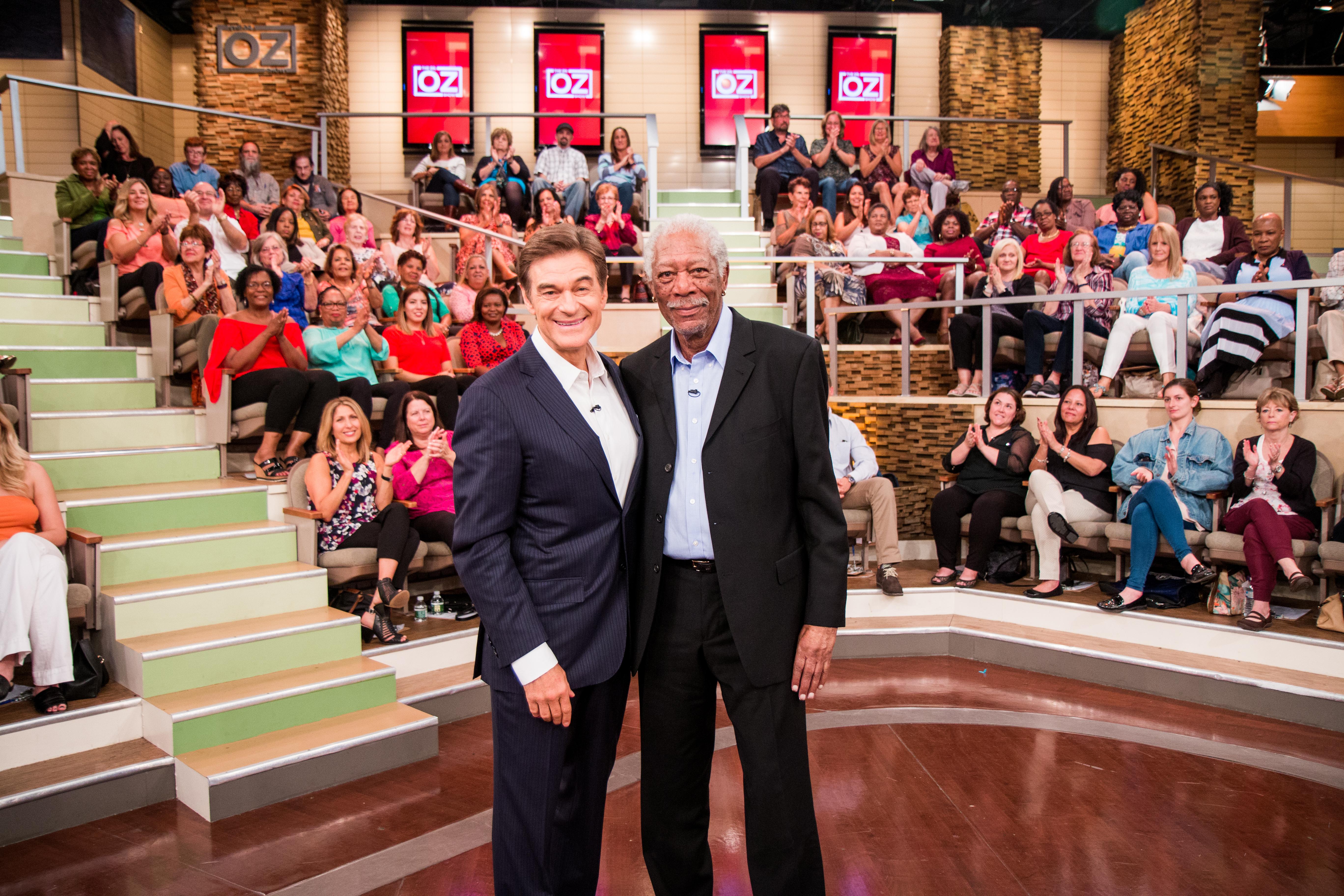 Dr. Oz and Morgan Freeman