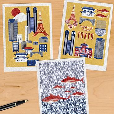 Tokyo Postcards illustation