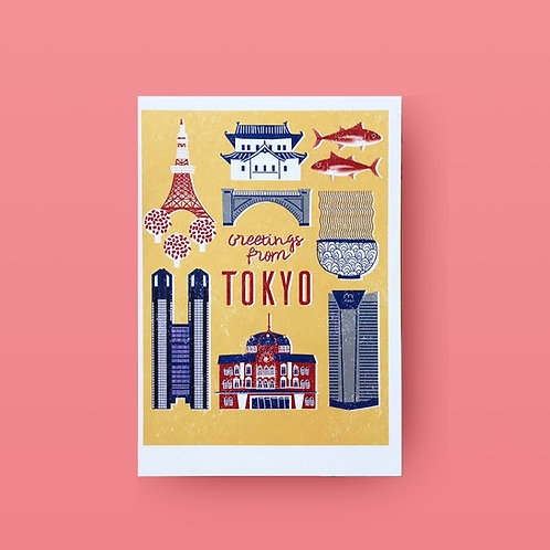 Greeting from Tokyo Postcard