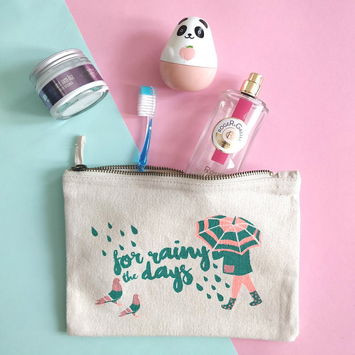 Cosmetic Bag - Rainy days