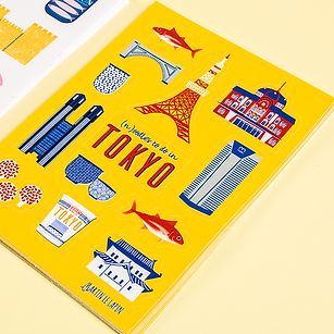 Tokyo Stickers Illustrations