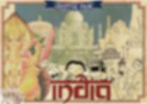 India postcard illustration