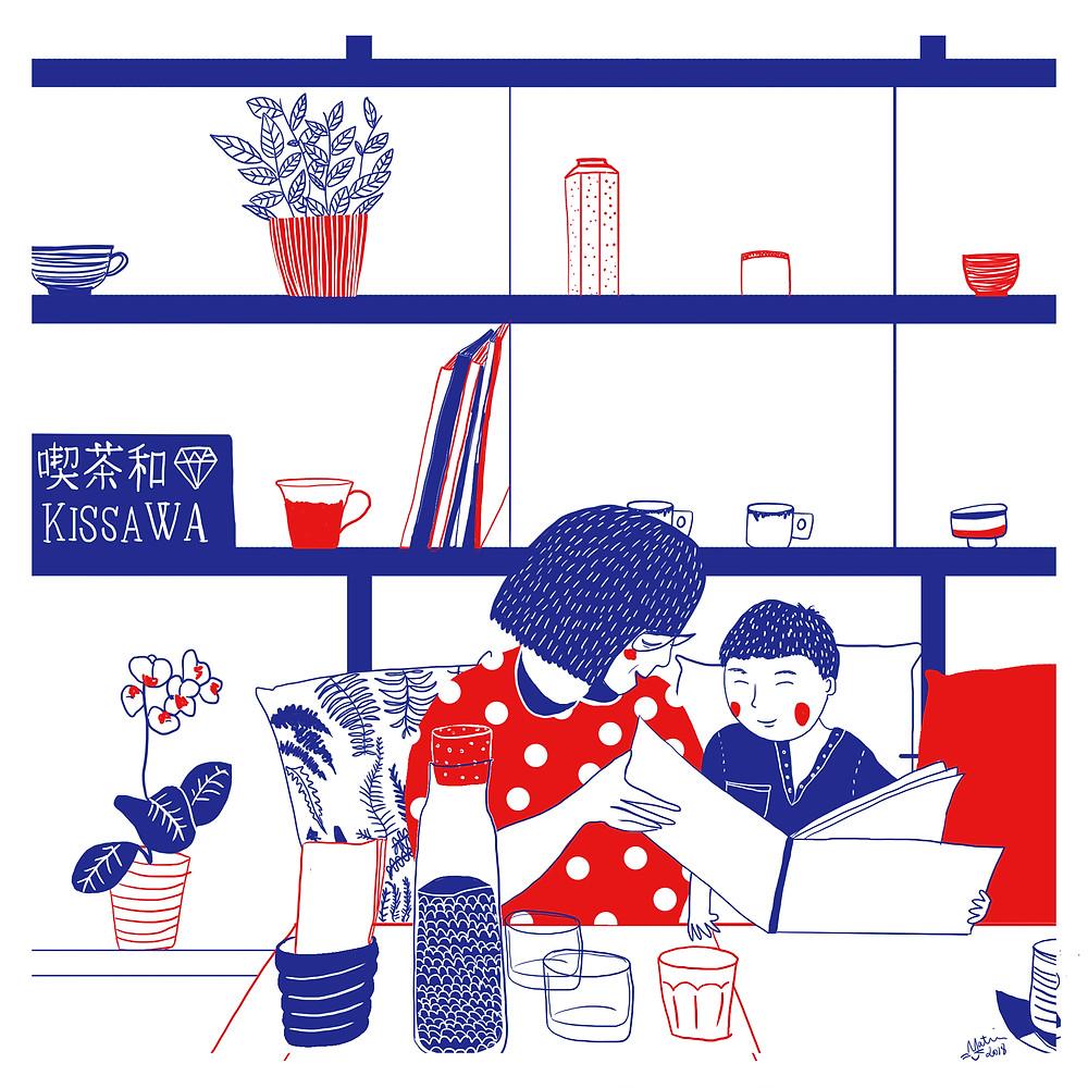 Illustration Travel Japan London