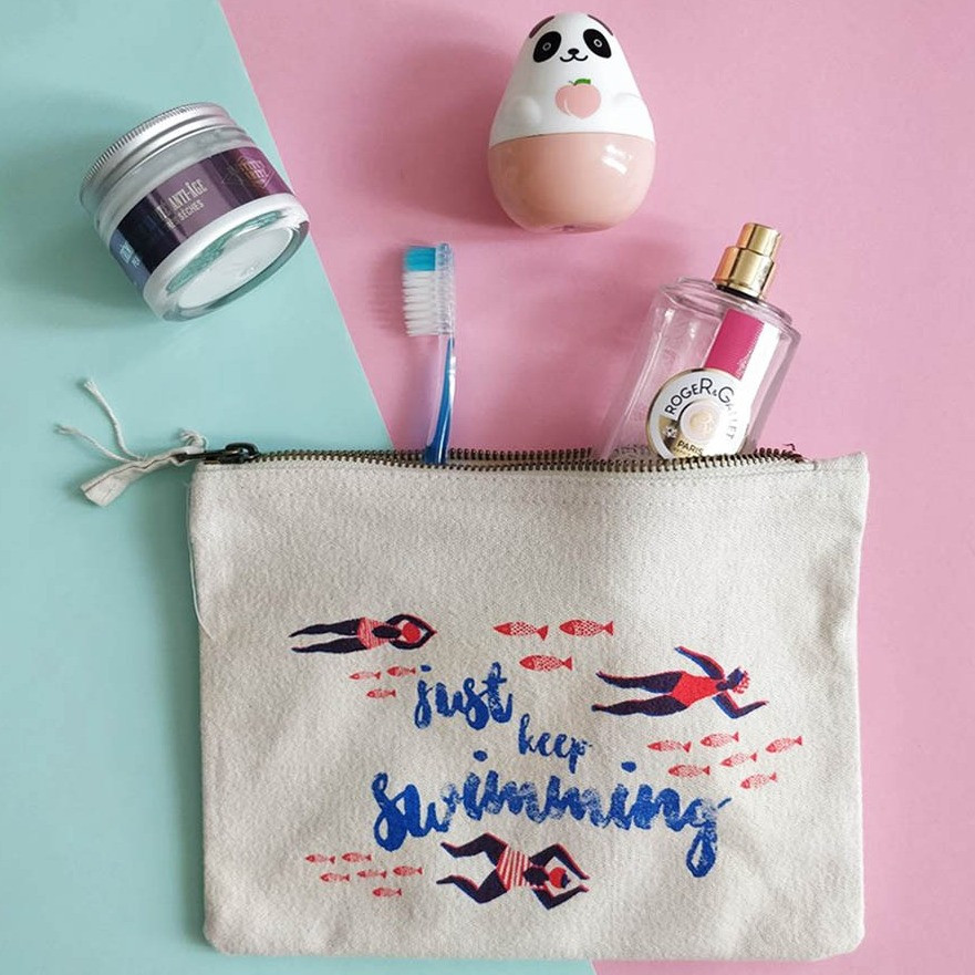 make up pouch design swimmers