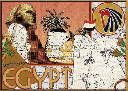 Egypt Postcard illustration