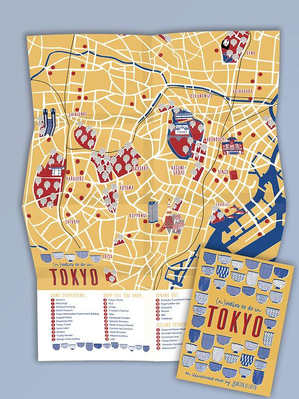 Tokyo Map illustration