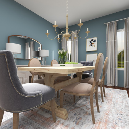 Dining Room 3D Rendering