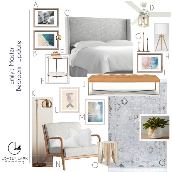 Beach Inspired Master Bedroom Retreat Style Board