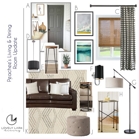 Living Room Update Style Board