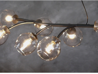 "Simon Pearce/Hubbardton Forge ""Vine Chandelier"""