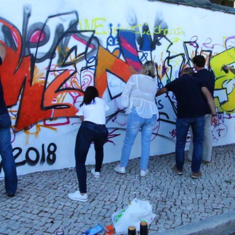 Team Building Graffiti Workshop empresa Weidmuller