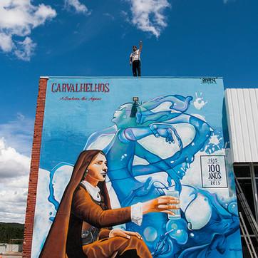 """A Senhora das Águas"" - Mural tribute 100 years"
