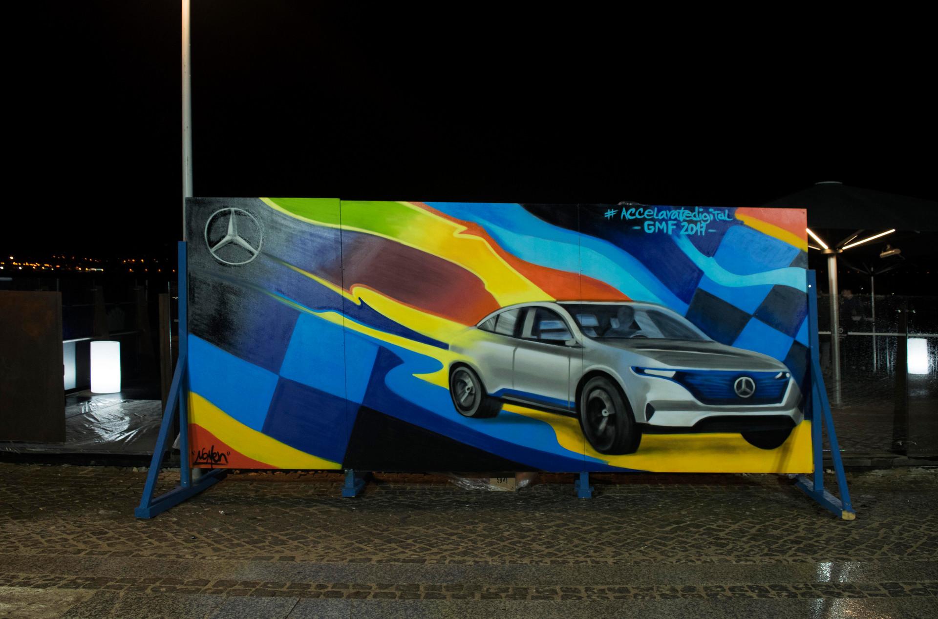 Nomen pinta Mercedes Benz Graffiti