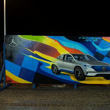Live Painting for a Mercedes Event.