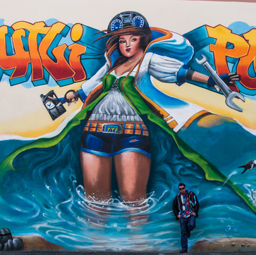 """Graffiti Mural for the Company """"Krautly Portugal"""""""