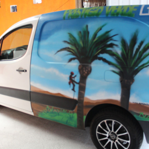 Graffiti in a Van By Nomen